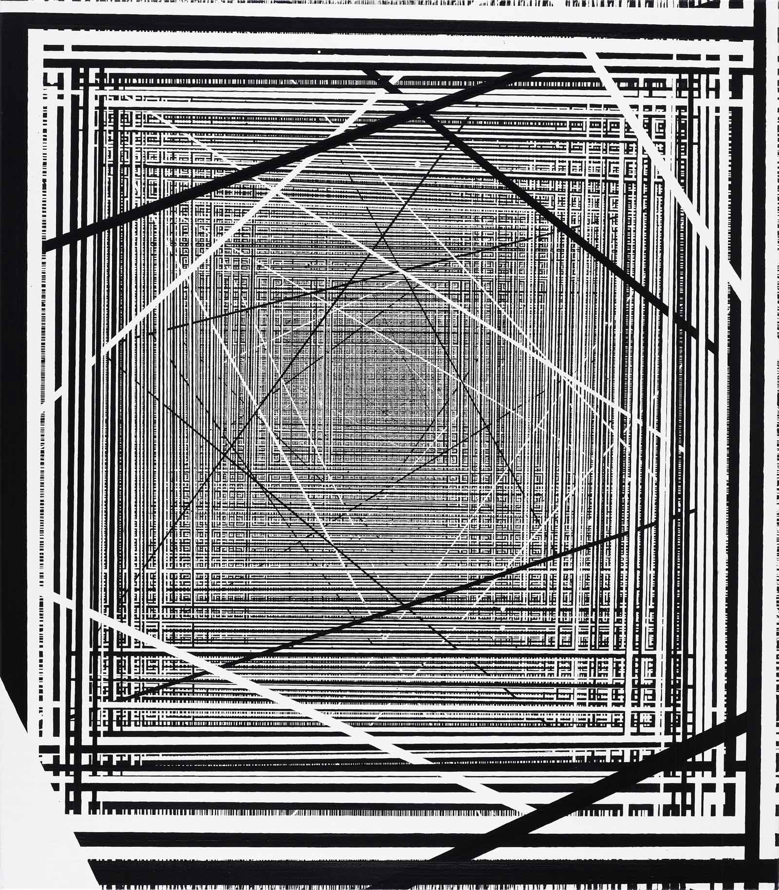 Linienbild Acryl auf Leinen
