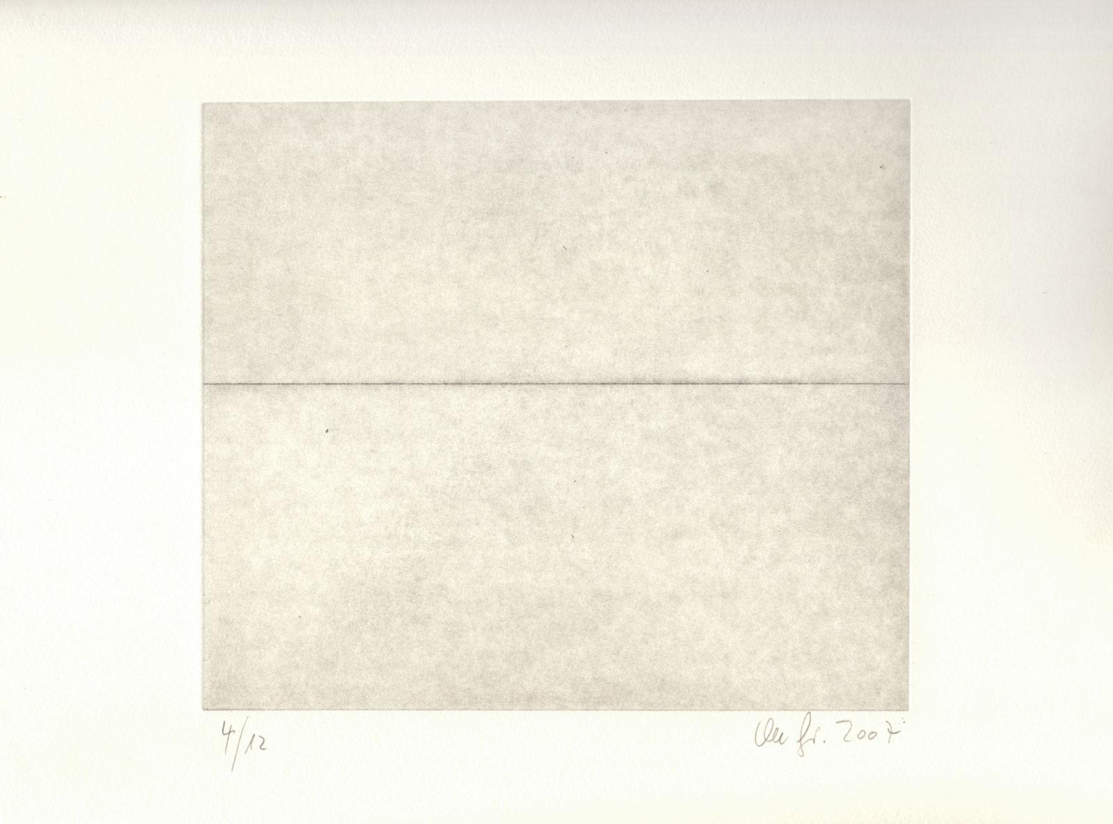 Linie Raum Zeichnung Radierung Kaltnadel